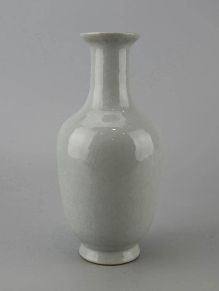 Chinese Celadon Crackle Glazed Porcelain Vase