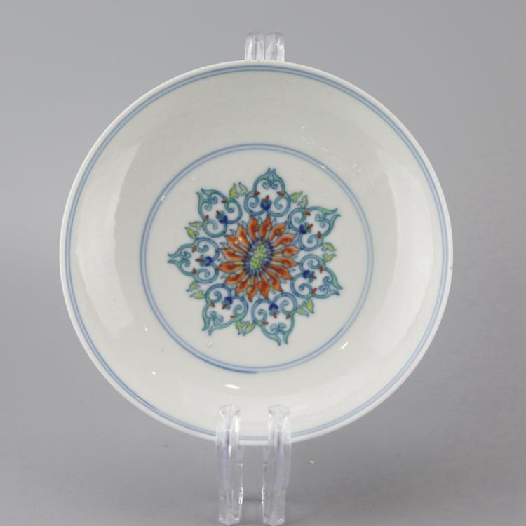Chinese Doucai Porcelain Dish
