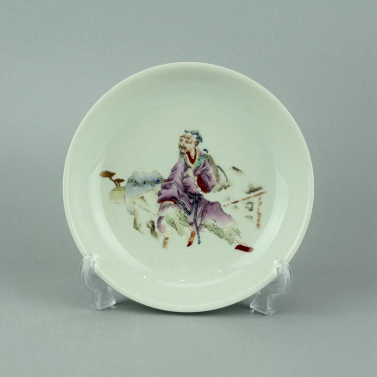 Chinese Wucai Porcelain Dish