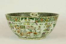 Large Cantonese Famille Rose Porcelain Bowl