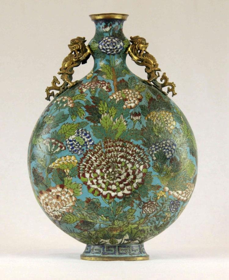 A Vintage Chinese Cloisonne Enamel Vase