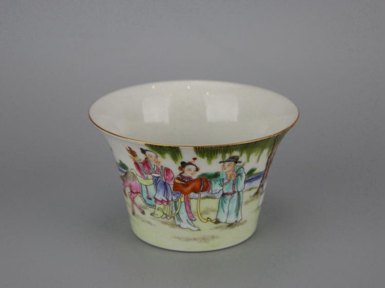 Chinese Famille Rose Porcelain Tea Cup