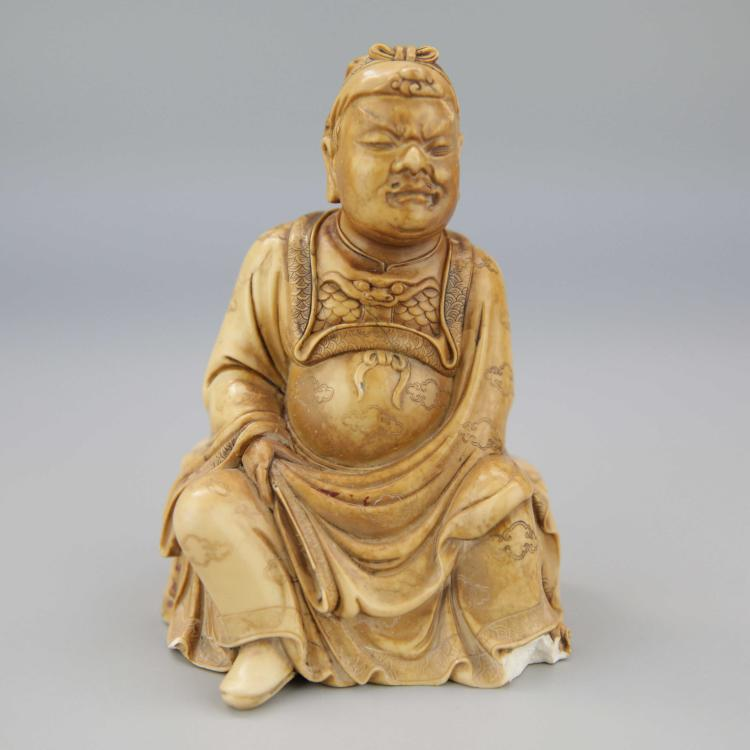 Chinese Shoushan Stone Carved Figure