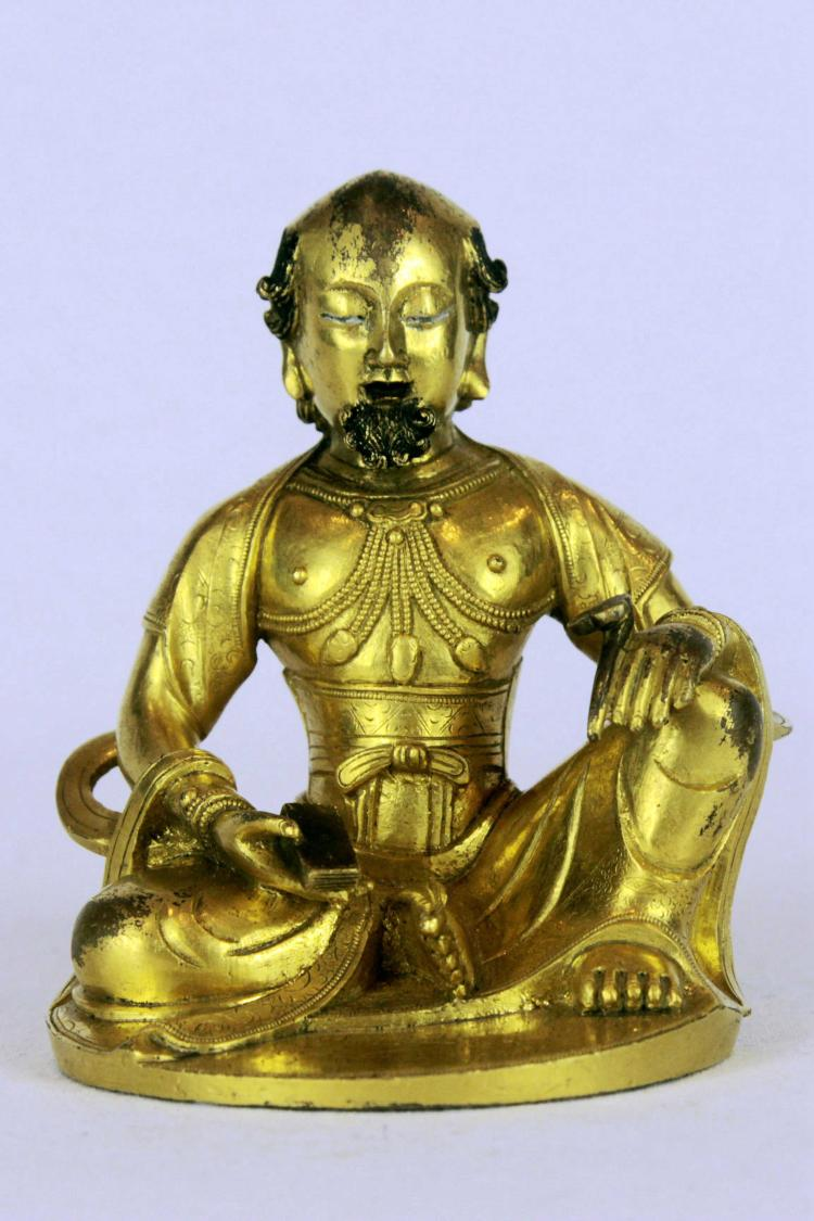Chinese Gilt-Bronze Figure of Bodhidharma