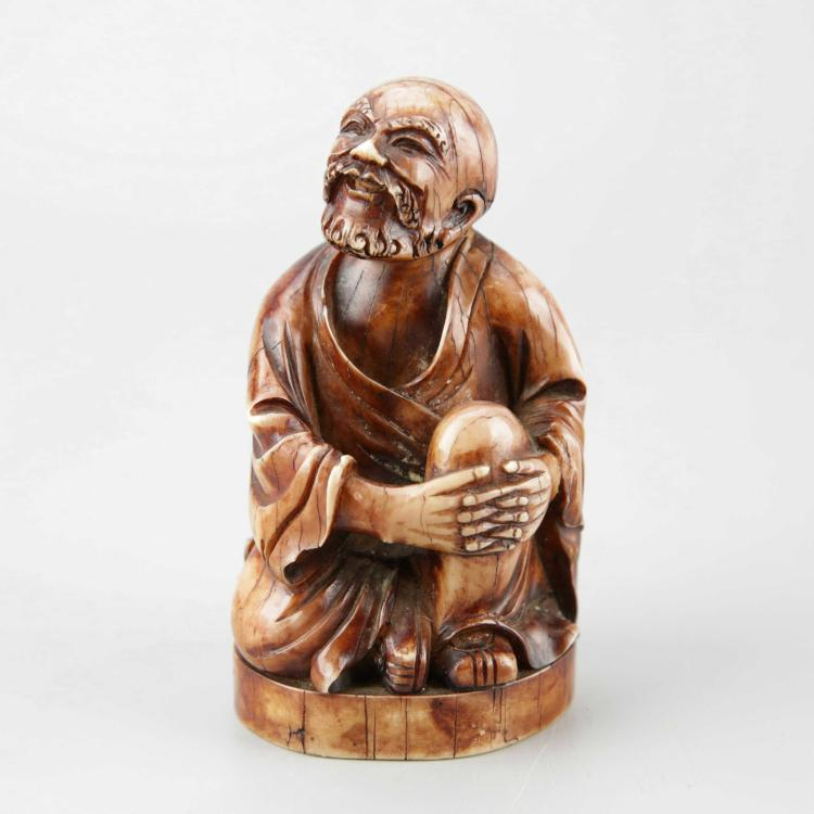Chinese Stained and Carved Ivory Figure