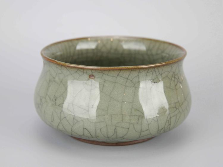 Chinese Geyao Crackle Glazed Porcelain Censer