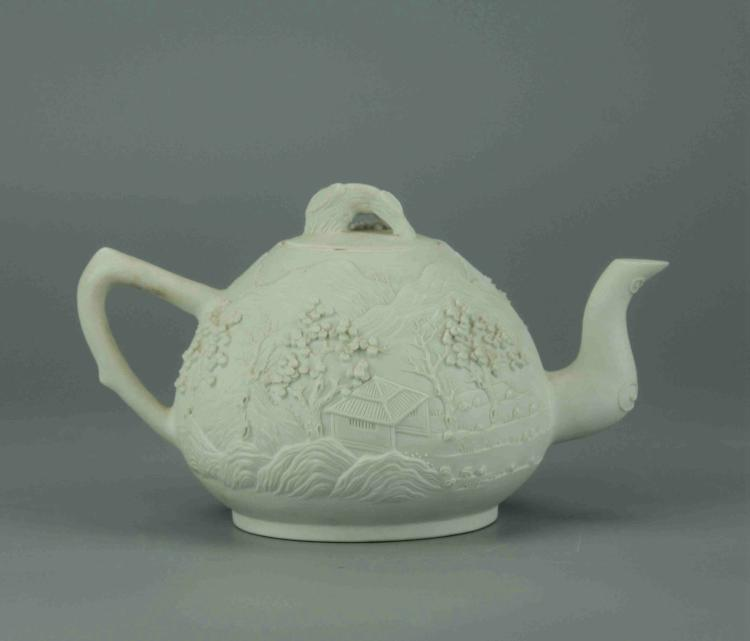 Fine Chinese White Porcelain Tea Pot