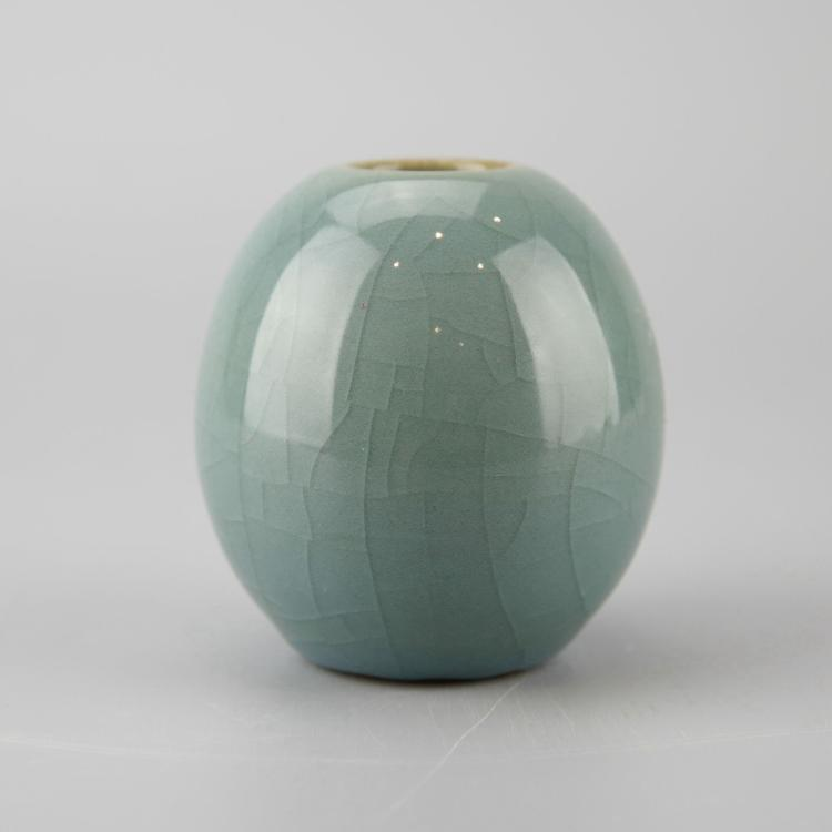 Chinese Celadon Crackle Glazed Porcelain Water Pot
