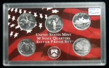 1999 S United States Mint Silver Proof Quarter Set
