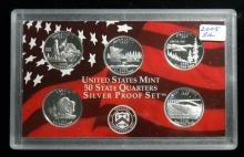 2005 S United States Mint Silver Proof Quarter Set