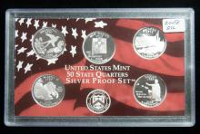 2008 S United States Mint Silver Proof Quarter Set