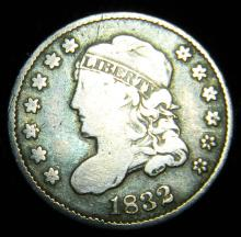 1834 Capped Bust Half Dime, Very Good+ Details