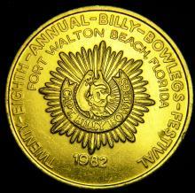 1982 28th Annual Billy Bowlegs Festival Medal, Fort Walton Beach, Fla.