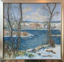 "Rudolph Stumpf (German/American, 20th Century), ""Delaware Winter"""