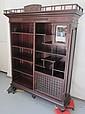 C1870 Eastlake Victorian Mahogany bookcase etagere