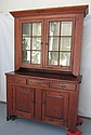 Period C1820 Pine step back cupboard