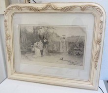 Rare 19th C. Signed Percy Moran Engraving