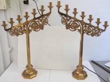 Pr. C1900 Cast bronze candelabras