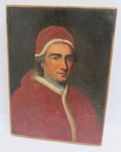 Ea. 19th C. Painting of Cardinal