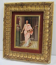 Signed KPM Porcelain plaque of pretty lady