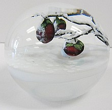 Paperweight winter scene by Lundberg  Studios