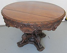C1890 Renaissance Victorian walnut center table