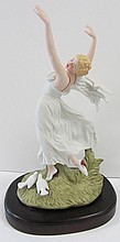 20th C. Porcelain ICart figure of dancing woman