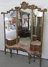 C1900 French style marbletop vanity