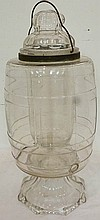 Rare Ea. 19th C. glass lemonade cooler