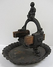 Rare 19th C. Cast Iron figural boot scraper