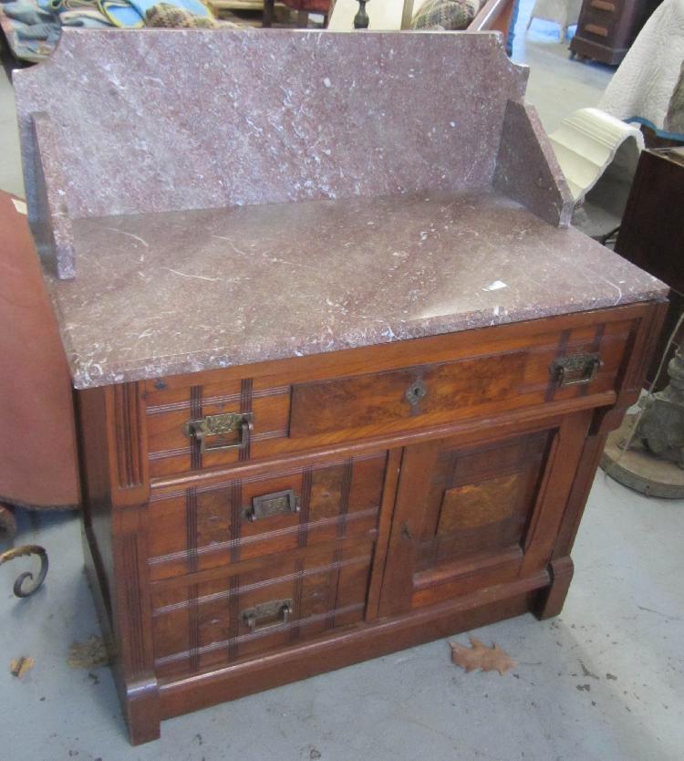 Eastlake 3 Piece Marble Top Bedroom Set