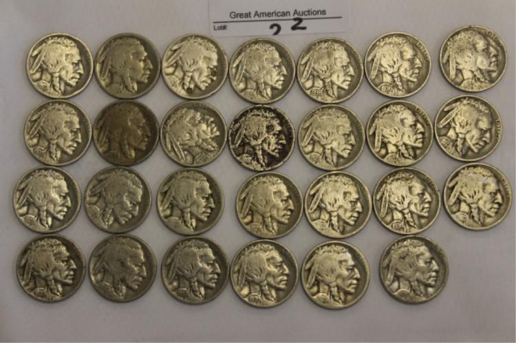 Bullafo Nickels Mulitable Dates We have a large collectionn of coins.  Please look at photo if you need more photos please ask. We will do our best to get them to you.  If you need any more info, please give lot number and Auction when calling so we c