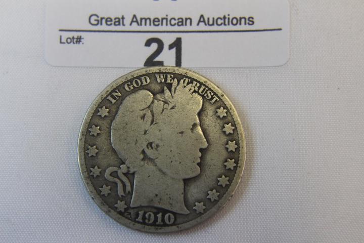 1910-s Barber Half Dollar