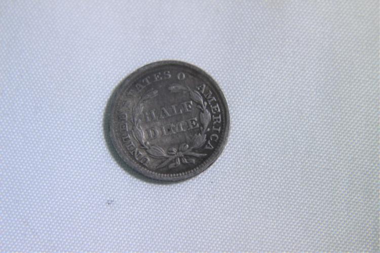 Liberty Seated 1857 Half Dime