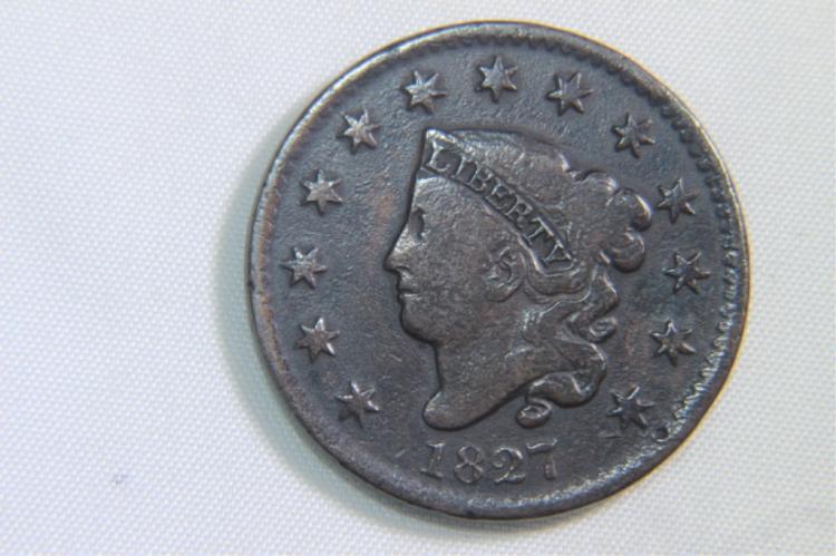 Coronet Large Cent 1827