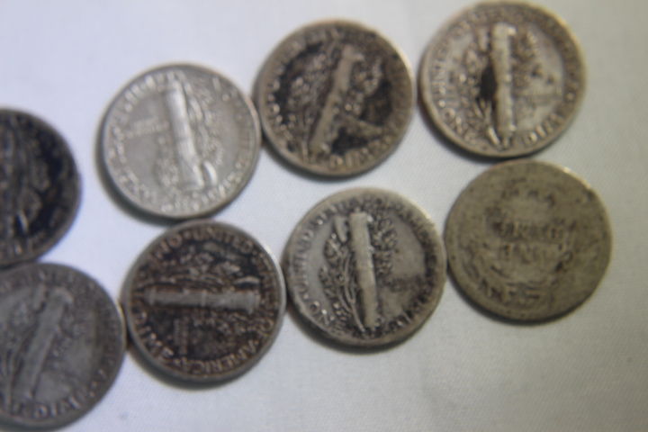 Mercury Dimes Multiable Dates (10)