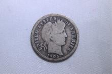 1901 Mercury Dime
