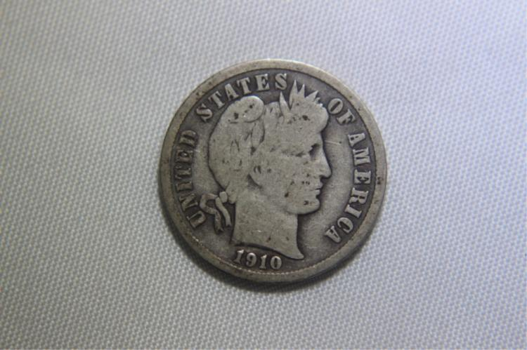 1910 Mercury Dime