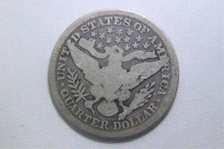 1908 D Barber Quarter 1908 Barber Quarter