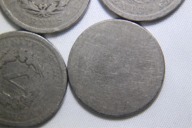 5- V- Nickels 1-1897 1-1901 2-1902 1 - ?