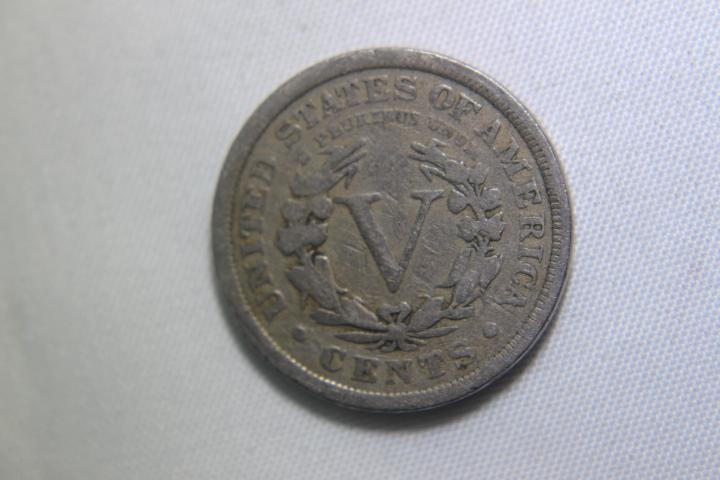 3 - V Nickels 2 - 19100 1 - 1912