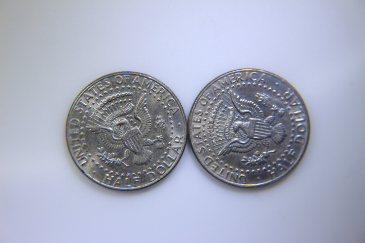 2- 1989 Kenedy Half Dollar 2- 1989 Kenedy Half Dollar              Mint Mark  P