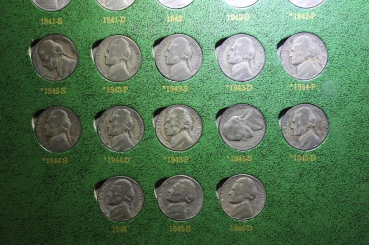 Jefferson Nickels I hhave a set of Nickels in in display not complete Please look at photo