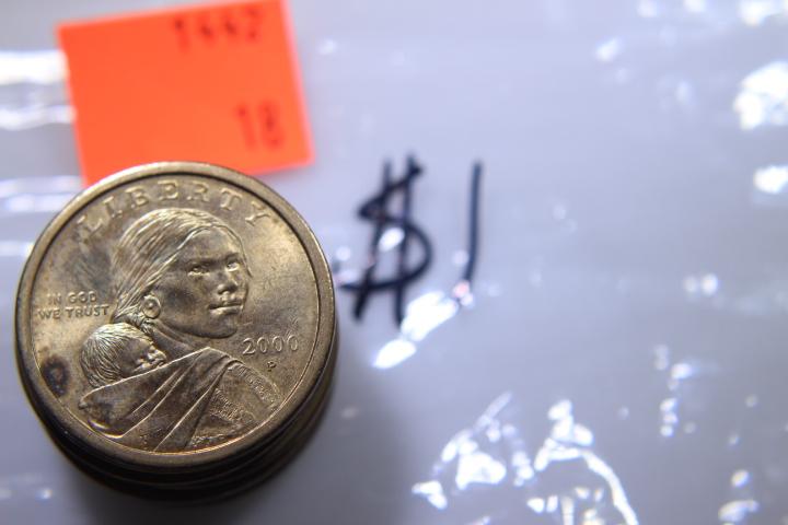8- Sacagawea Dollars 8- 20000-P Sacagawea Dollars