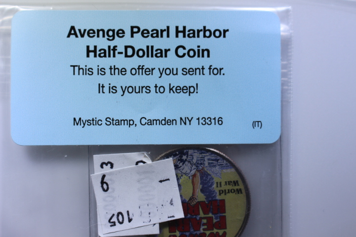 Pearl Harbor Painted  Half Dollar