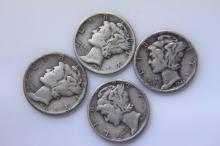 Mercury Dimes 1941, 1943, 1945