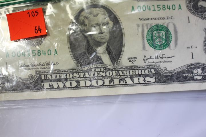 Series 2003 $2 Bill