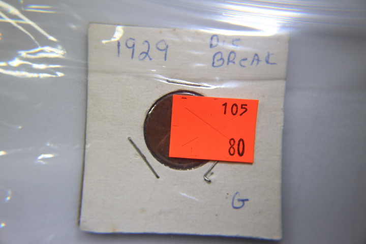 1929 Wheat Head Penny Die break