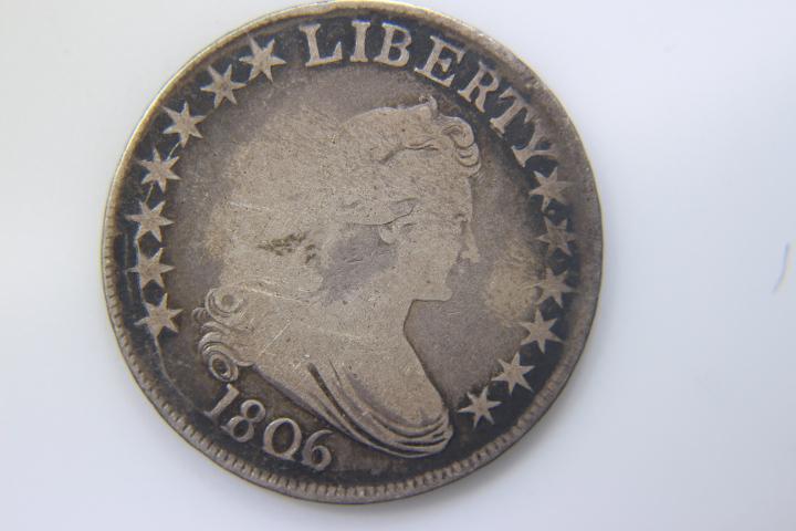 1806 Draped Half Dollar