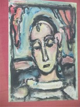 ROUALT - ABSTRACT FIGURE LITHOGRAPH
